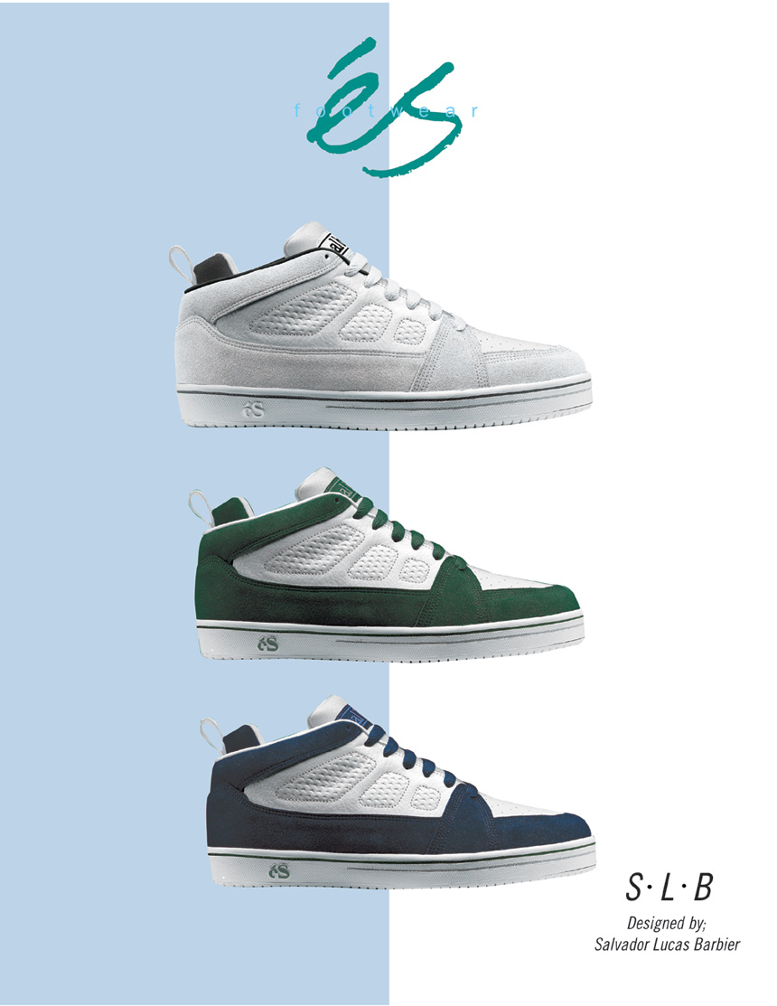 a5393e05f4ab éS Footwear premiere ad featuring SLB designed by Sal Barbier 1995 éS  Footwear premiere ad 1995