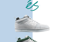 éS Footwear premiere ad featuring SLB designed by Sal Barbier 1995