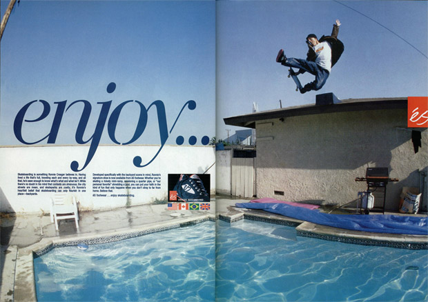 Ronnie Creager, Enjoy Skateboarding Ad