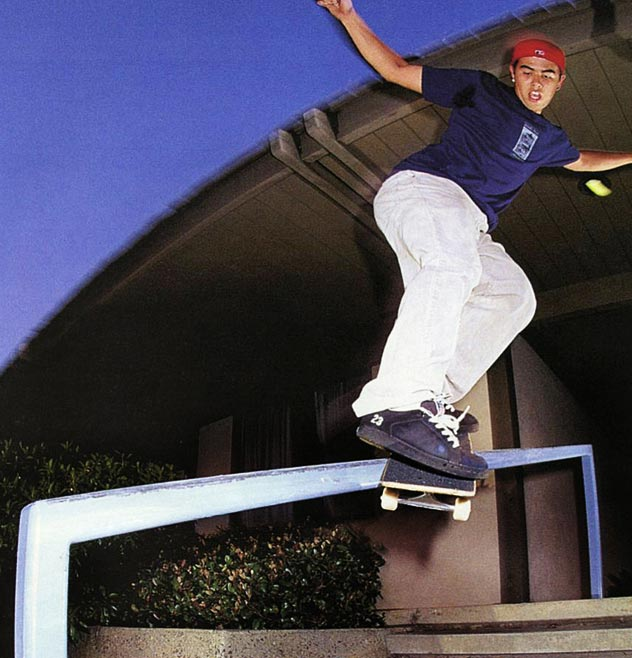 Eric Koston, backside Smith.