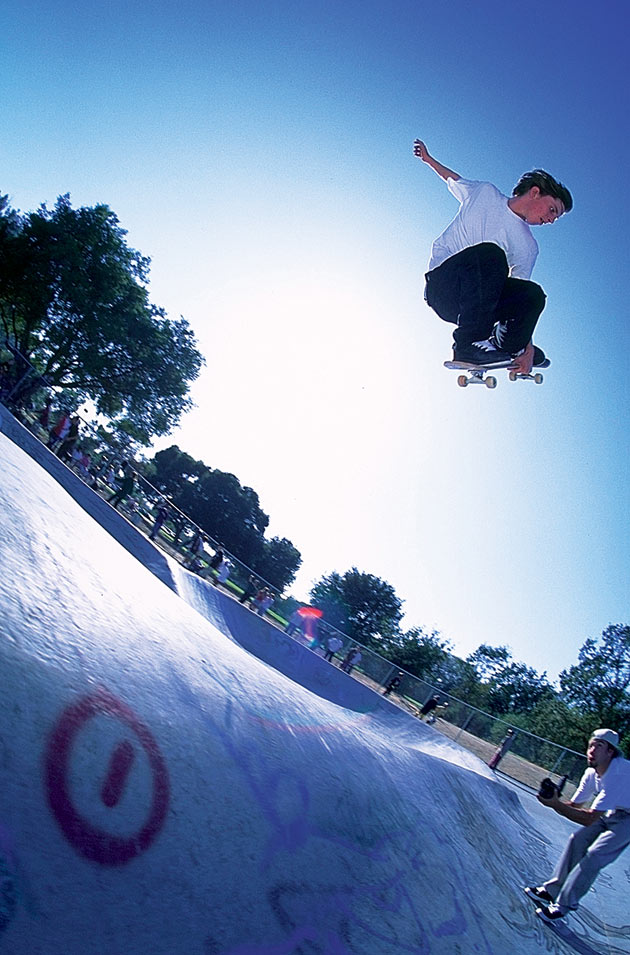 Tom Penny mute grabs his way to freedom during the opening of the Santa Rosa park in 1995.
