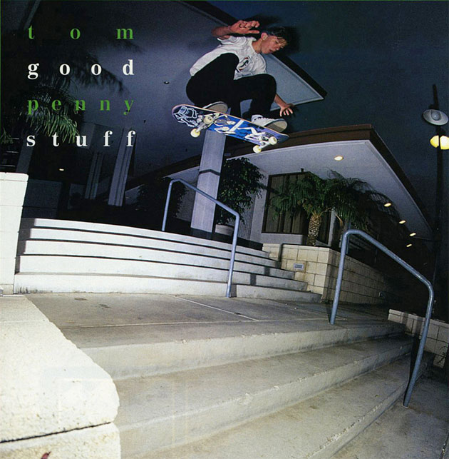 TransWorld Skateboarding Good Stuff: Tom Penny, switch frontside flip.