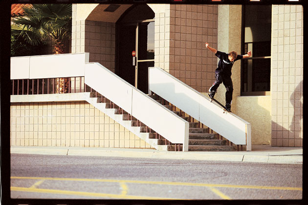 Chad Muska with a frontside crooks.