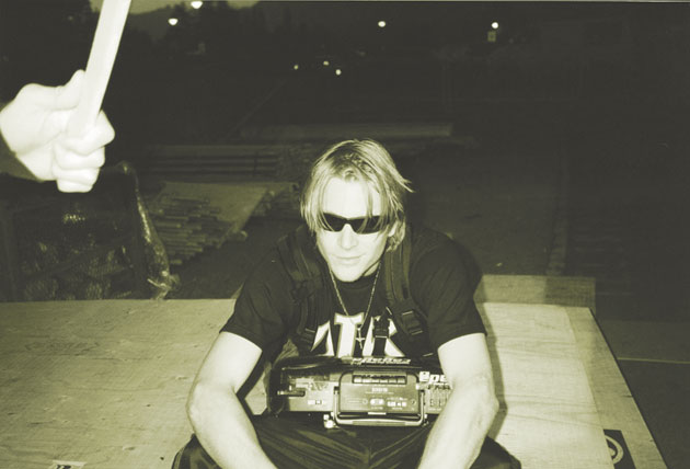 Chad Muska and his faithful pal, Mr. Boombox.