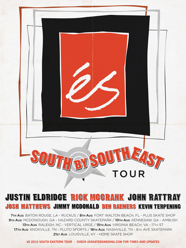 éS South By Southeast Tour poster